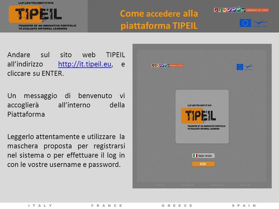 Come accedere alla piattaforma TIPEIL