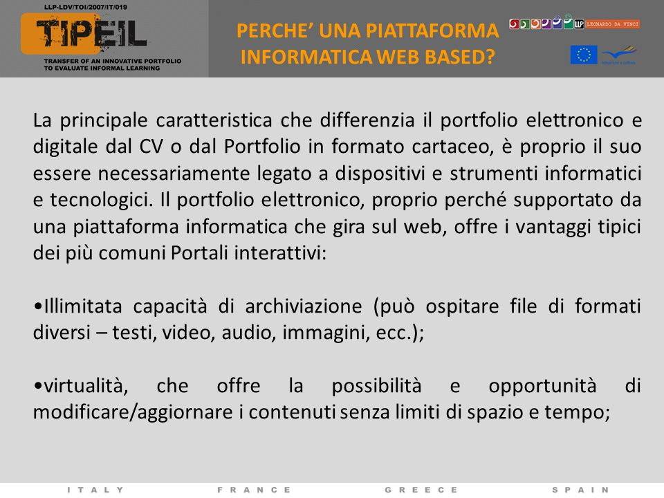 PERCHE' UNA PIATTAFORMA INFORMATICA WEB BASED