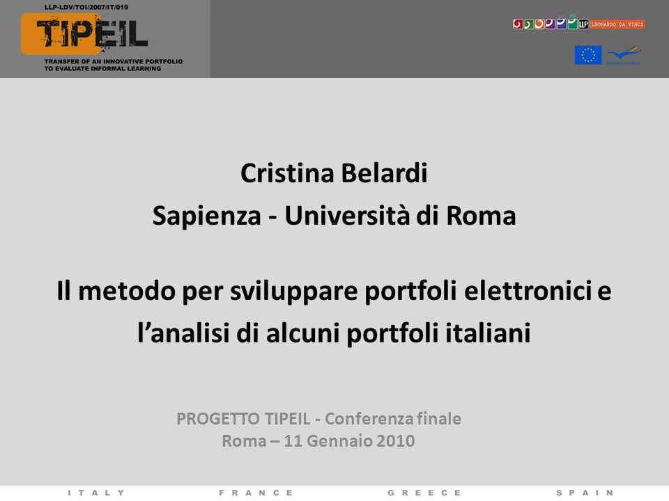 PROGETTO TIPEIL - Conferenza finale