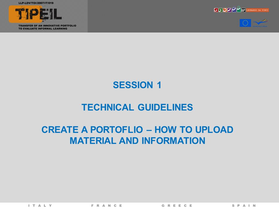 CREATE A PORTOFLIO – HOW TO UPLOAD MATERIAL AND INFORMATION