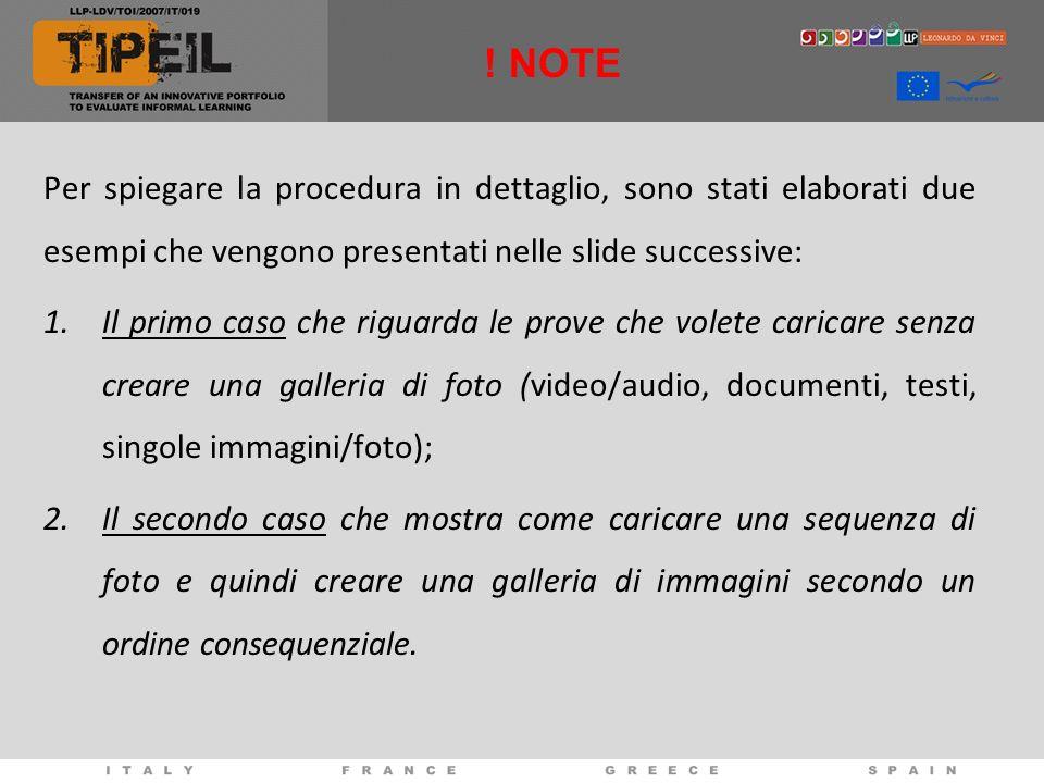 ! NOTE Per spiegare la procedura in dettaglio, sono stati elaborati due esempi che vengono presentati nelle slide successive: