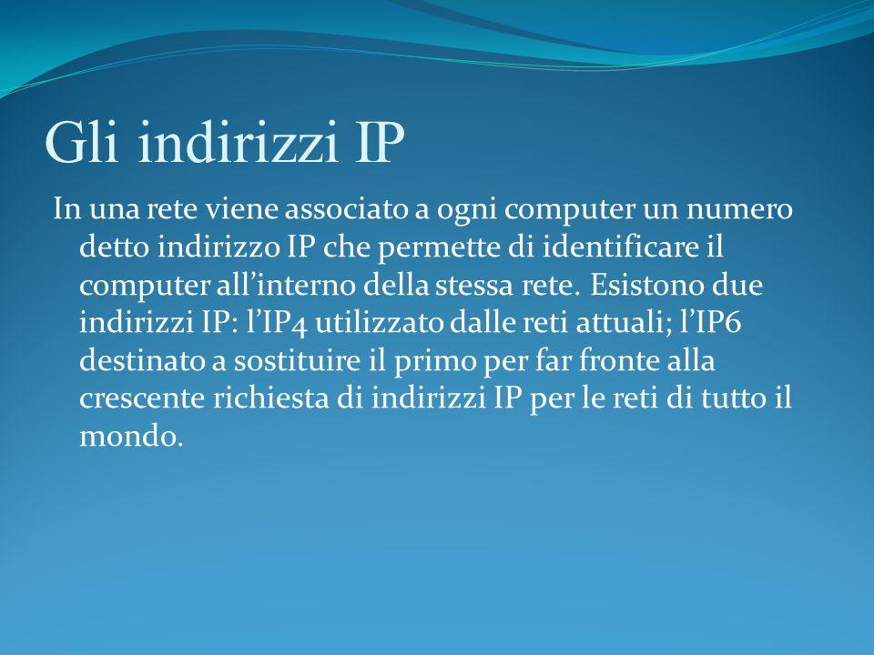 Gli indirizzi IP