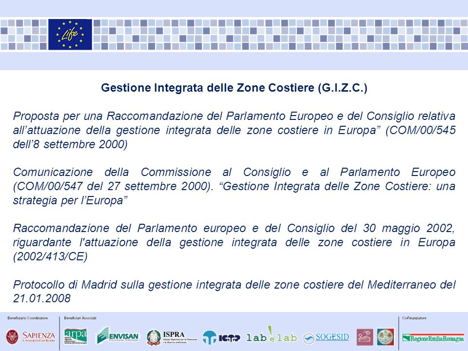 Gestione Integrata delle Zone Costiere (G.I.Z.C.)