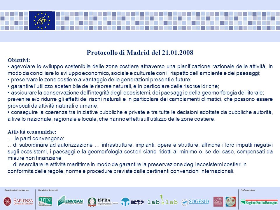 Protocollo di Madrid del 21.01.2008
