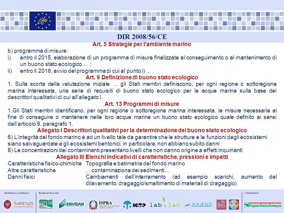 DIR 2008/56/CE Art. 5 Strategie per l'ambiente marino