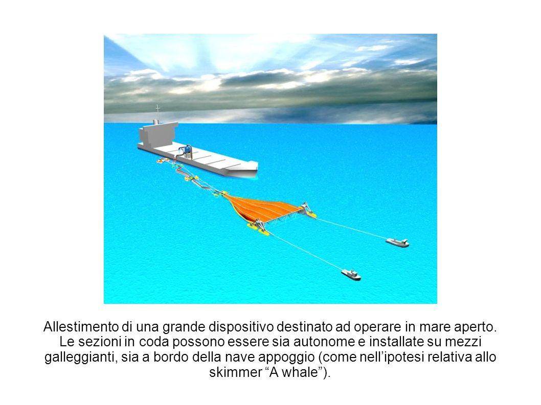Allestimento di una grande dispositivo destinato ad operare in mare aperto.