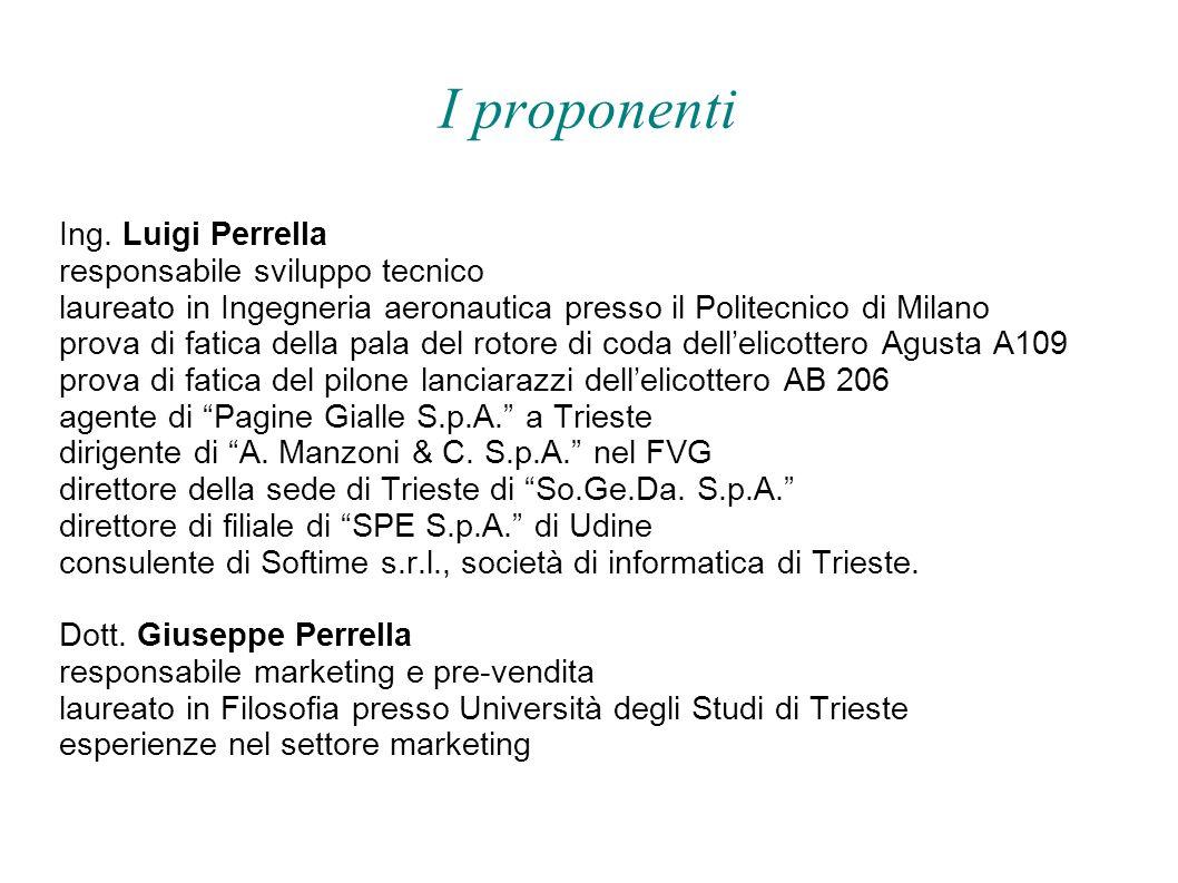 I proponenti Ing. Luigi Perrella responsabile sviluppo tecnico