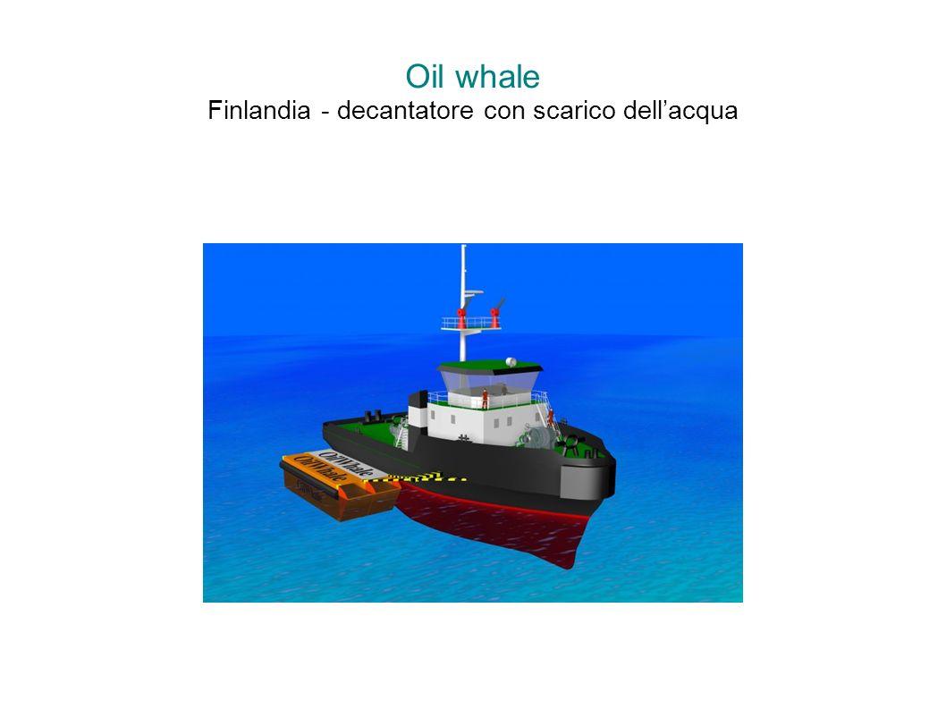 Oil whale Finlandia - decantatore con scarico dell'acqua