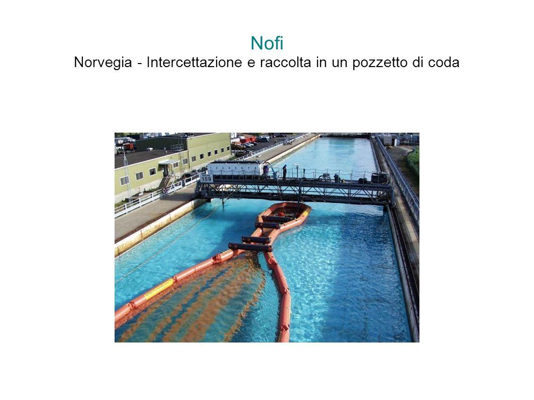 Nofi Norvegia - Intercettazione e raccolta in un pozzetto di coda