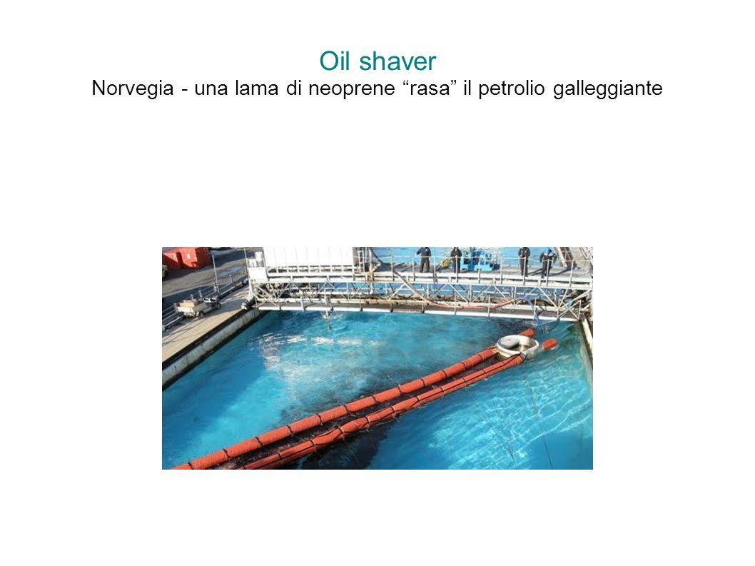 Oil shaver Norvegia - una lama di neoprene rasa il petrolio galleggiante