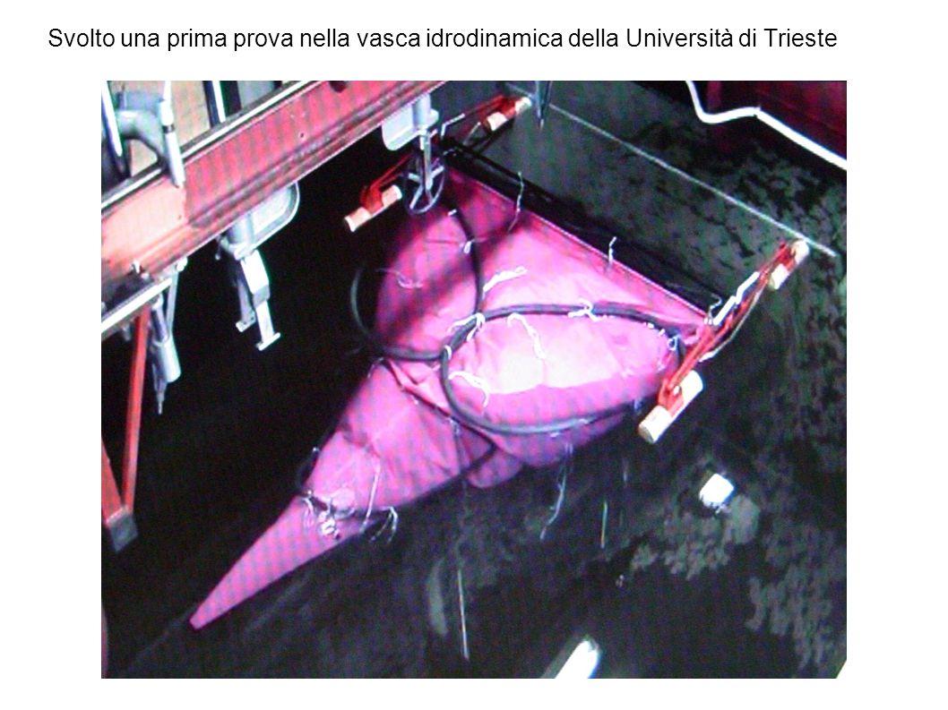 Svolto una prima prova nella vasca idrodinamica della Università di Trieste