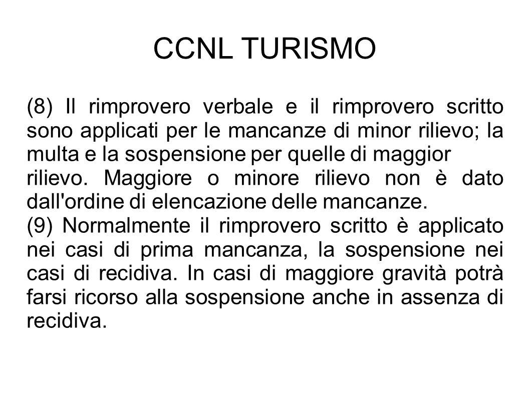 CCNL TURISMO