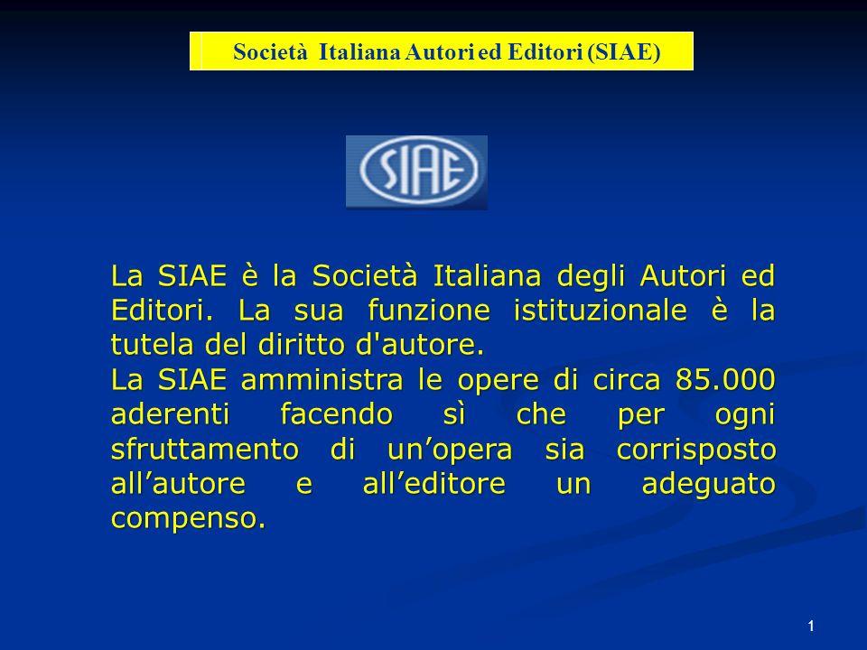 Società Italiana Autori ed Editori (SIAE)