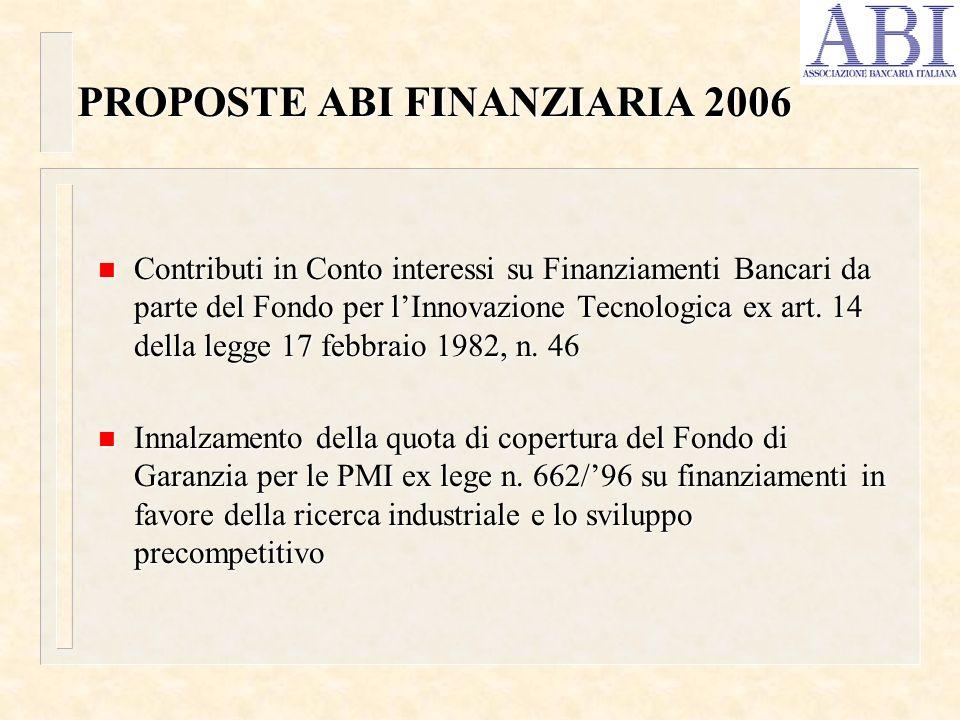 PROPOSTE ABI FINANZIARIA 2006