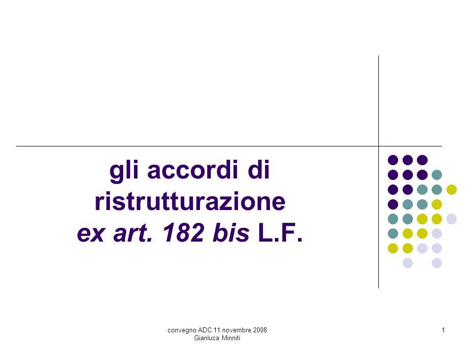 gli accordi di ristrutturazione ex art. 182 bis L.F.
