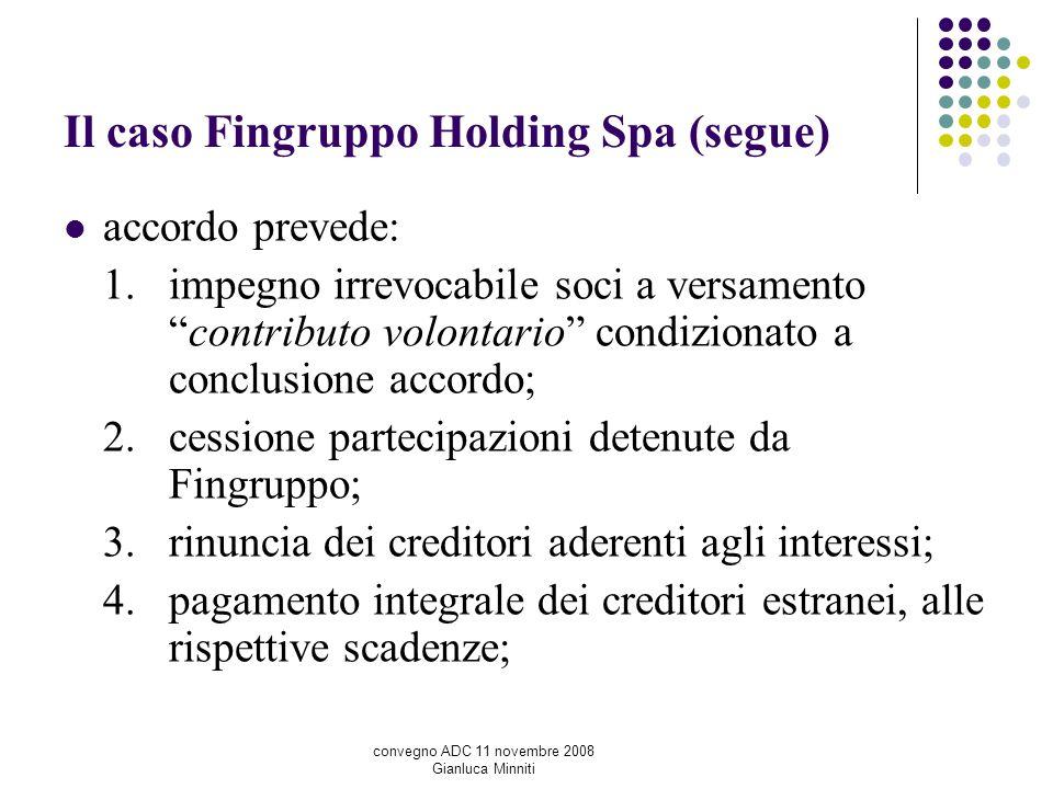 Il caso Fingruppo Holding Spa (segue)
