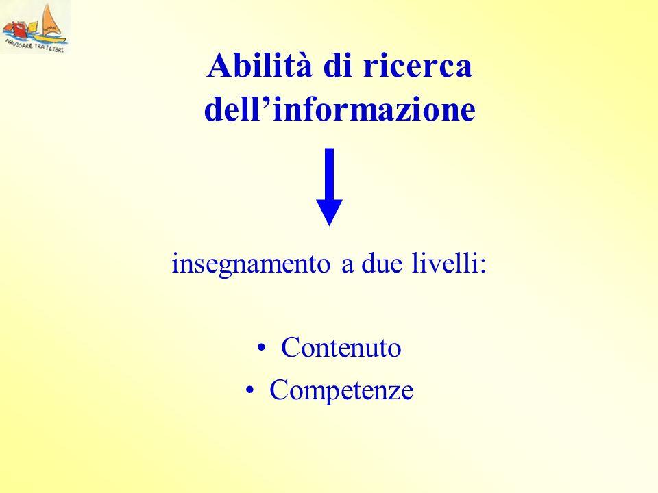 Abilità di ricerca dell'informazione