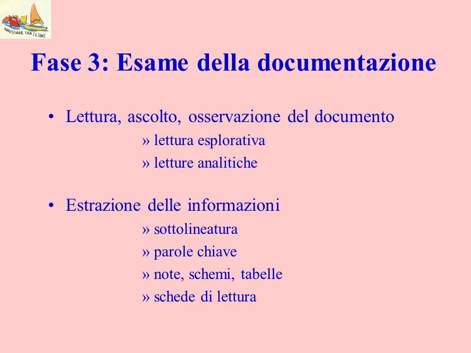 Fase 3: Esame della documentazione