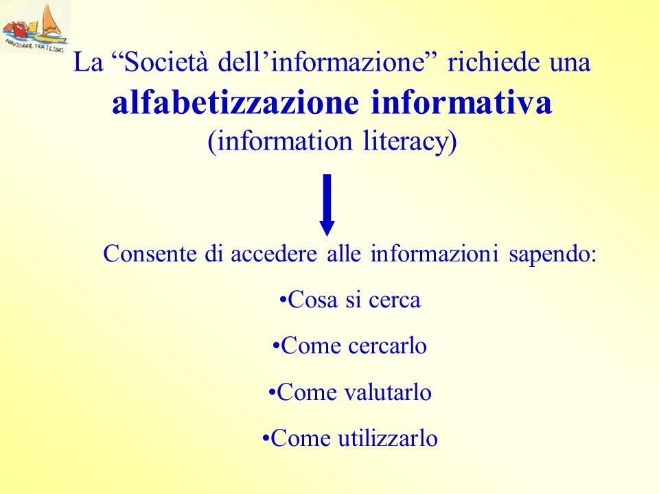 Consente di accedere alle informazioni sapendo: