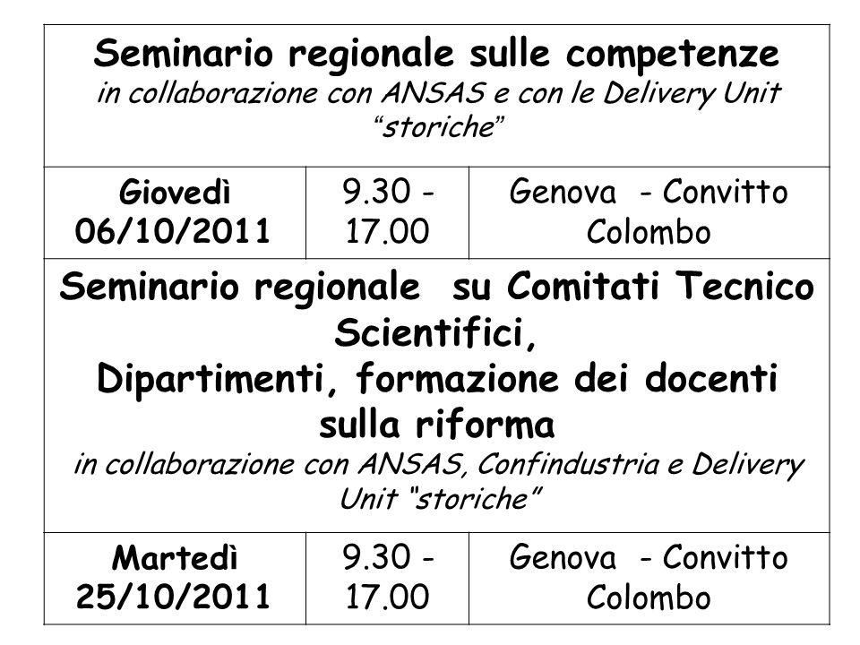 Seminario regionale sulle competenze
