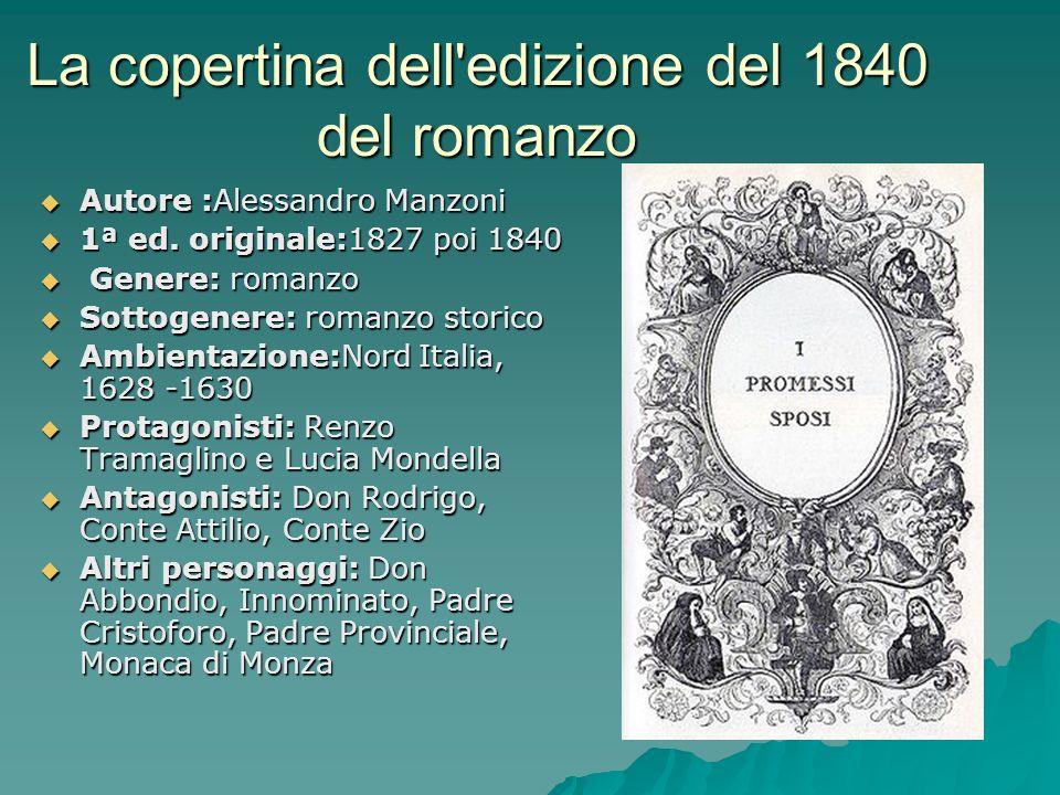 La copertina dell edizione del 1840 del romanzo