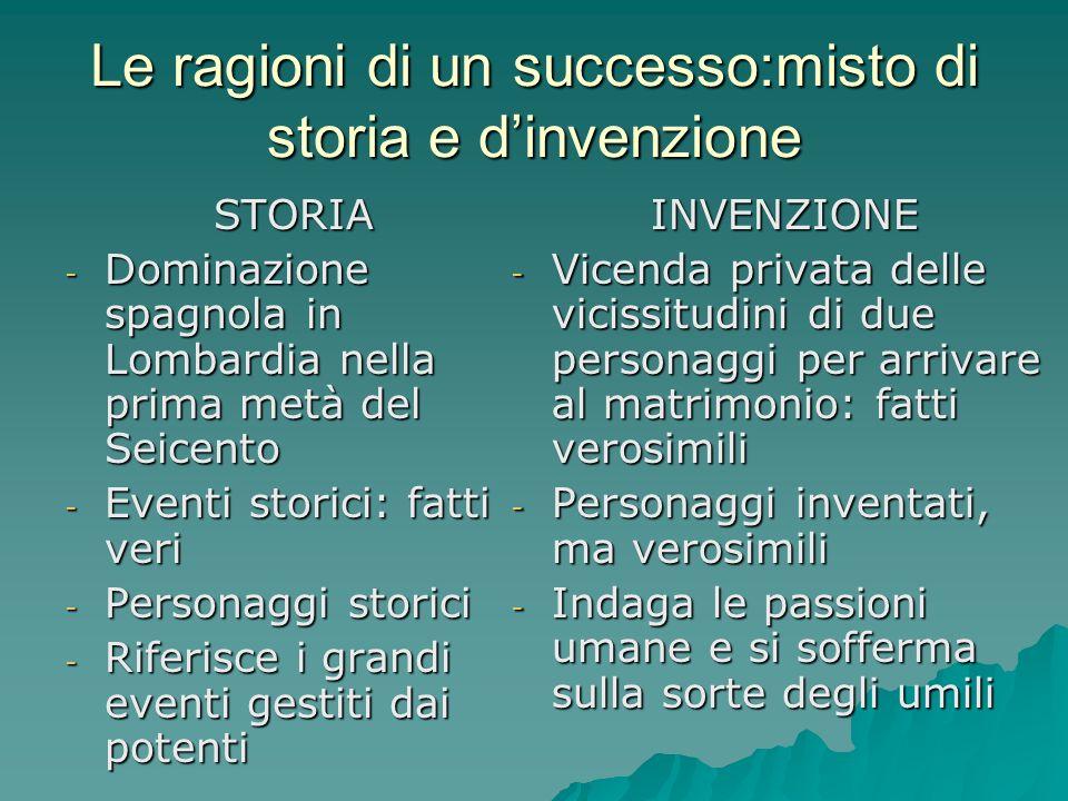 Le ragioni di un successo:misto di storia e d'invenzione