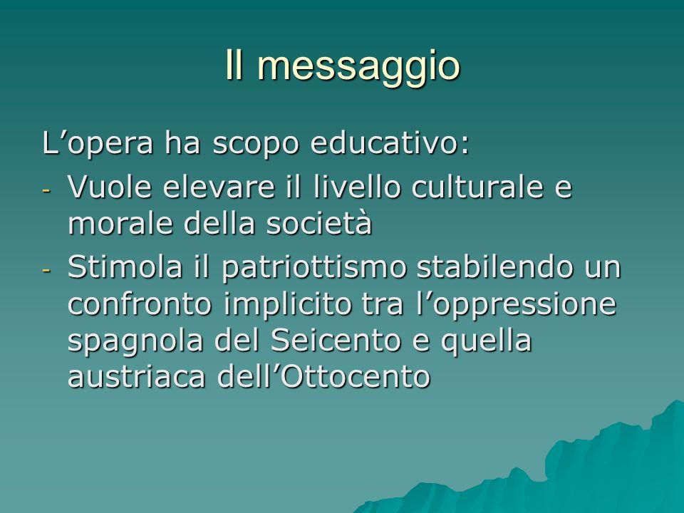 Il messaggio L'opera ha scopo educativo: