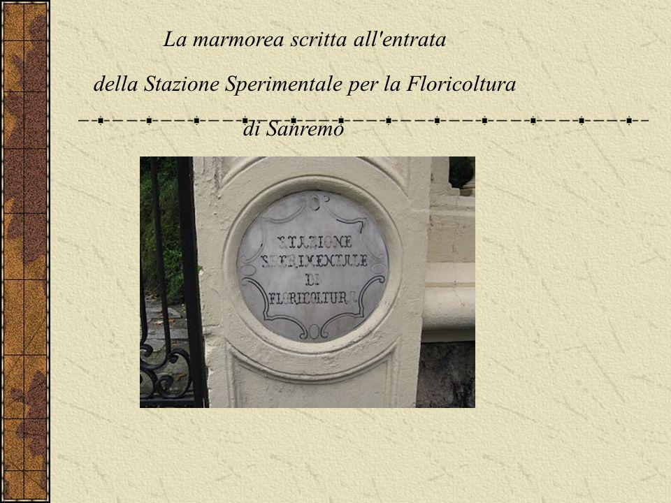La marmorea scritta all entrata
