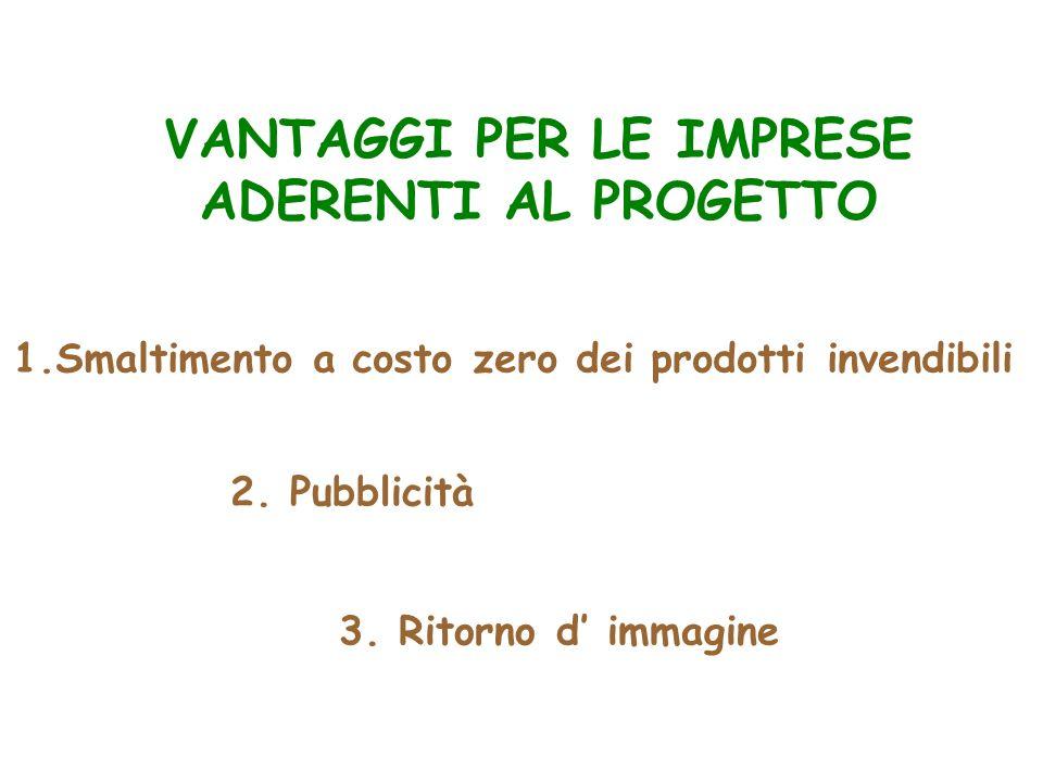 VANTAGGI PER LE IMPRESE ADERENTI AL PROGETTO