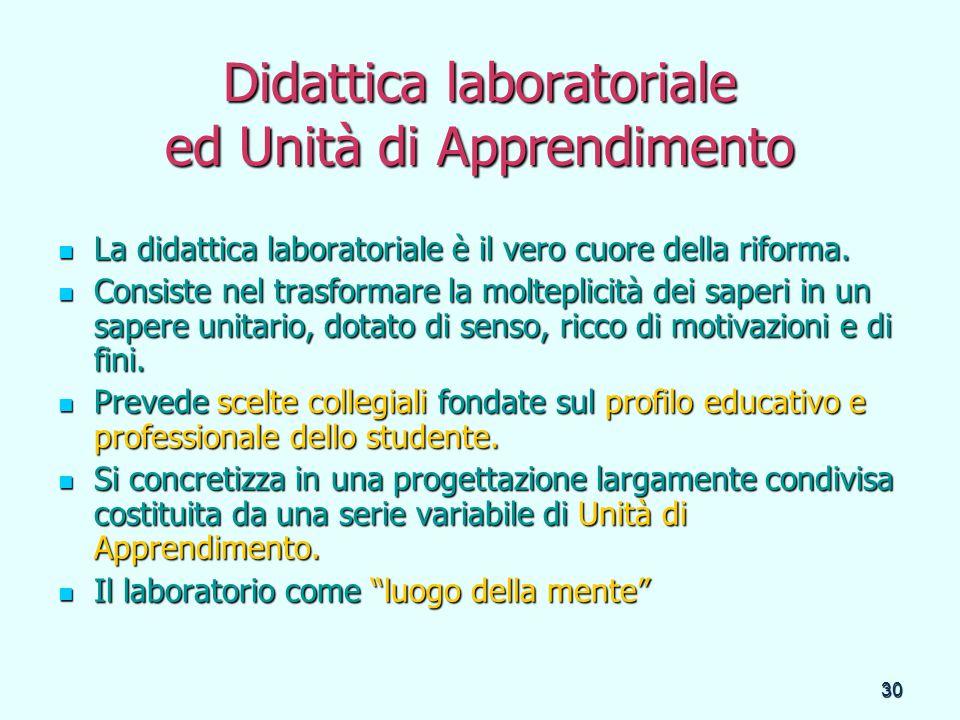 Didattica laboratoriale ed Unità di Apprendimento