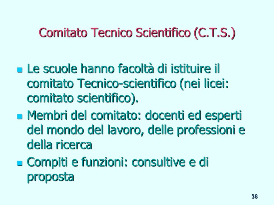 Comitato Tecnico Scientifico (C.T.S.)