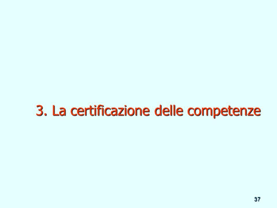 3. La certificazione delle competenze