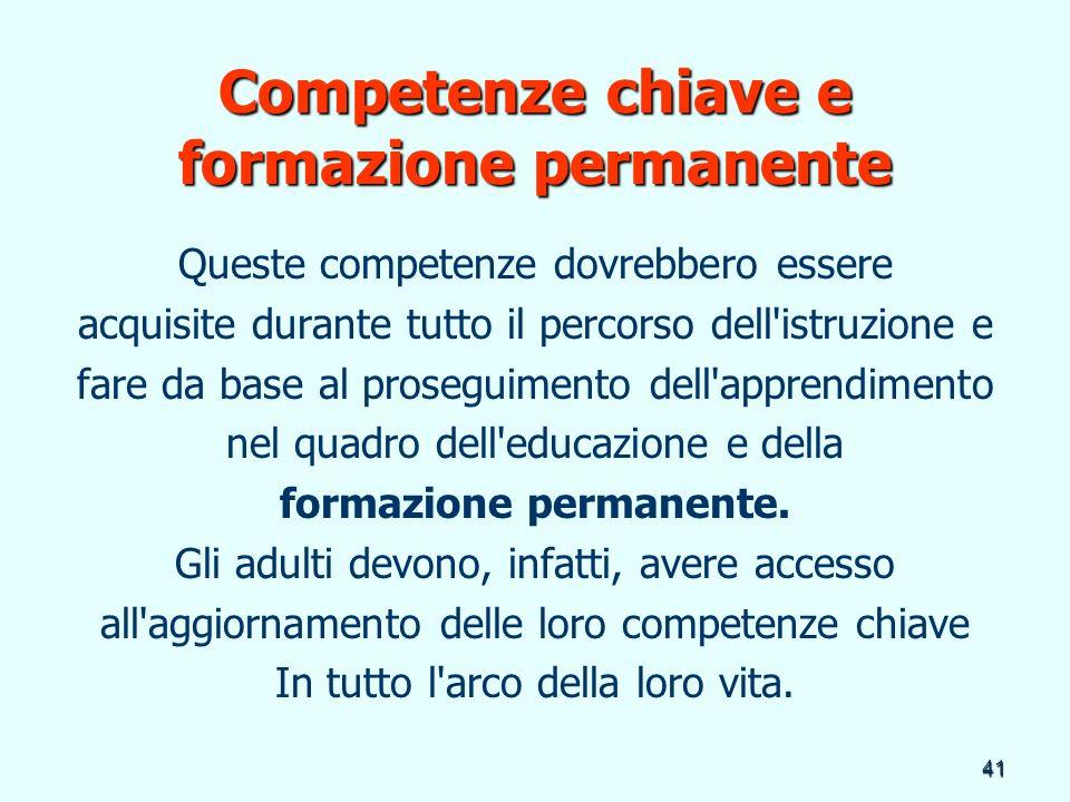 Competenze chiave e formazione permanente