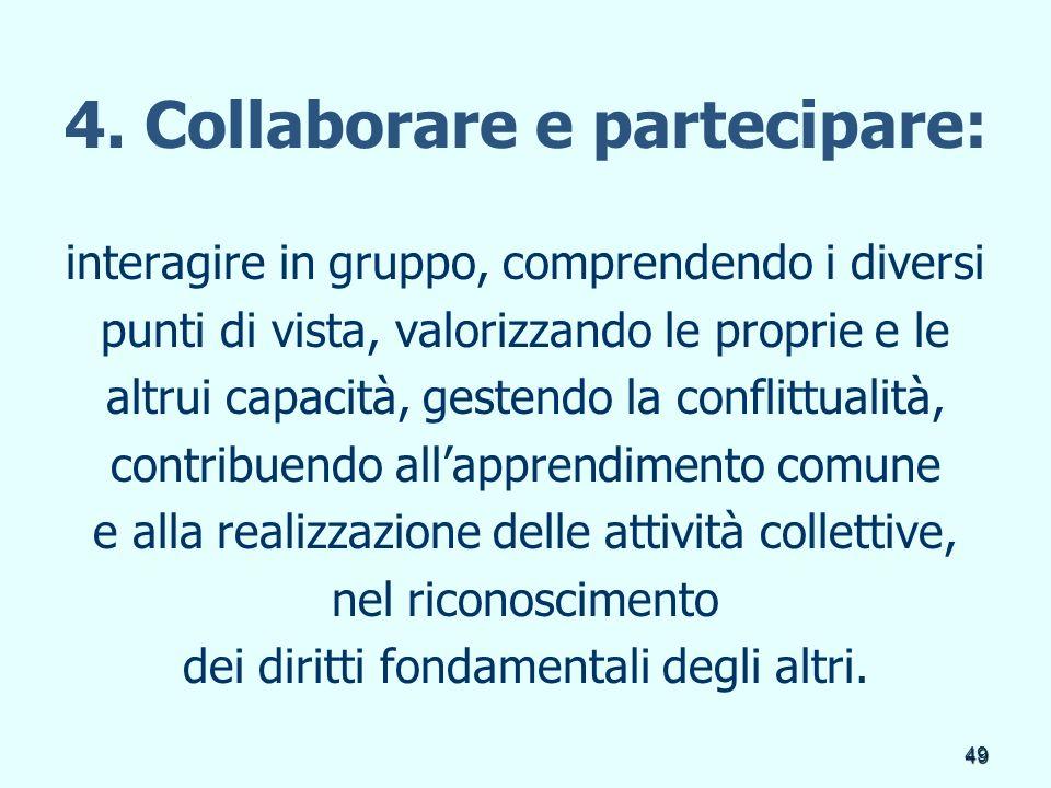 4. Collaborare e partecipare: