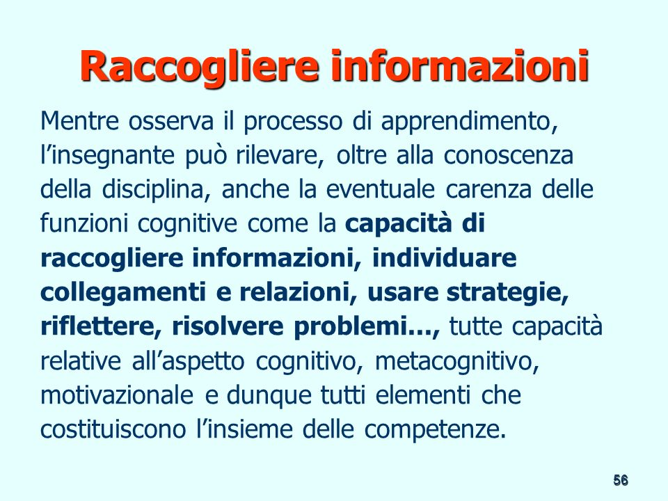 Raccogliere informazioni