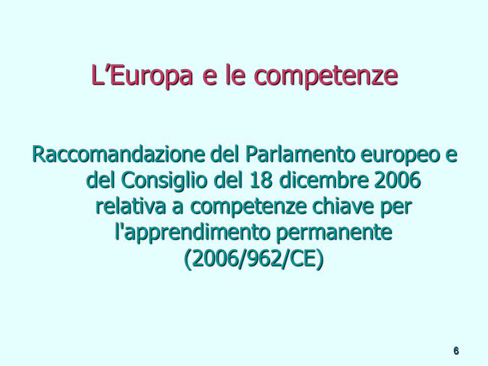 L'Europa e le competenze