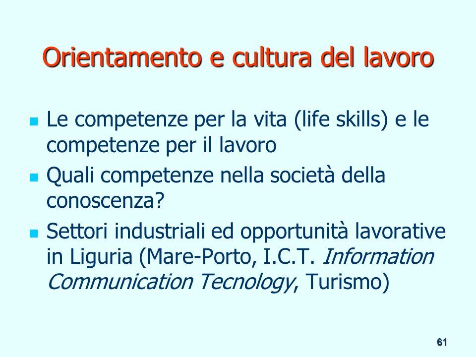 Orientamento e cultura del lavoro