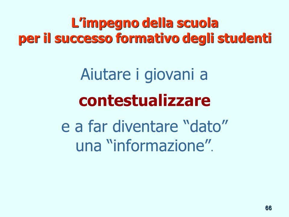 L'impegno della scuola per il successo formativo degli studenti