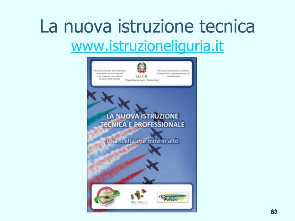 La nuova istruzione tecnica www.istruzioneliguria.it