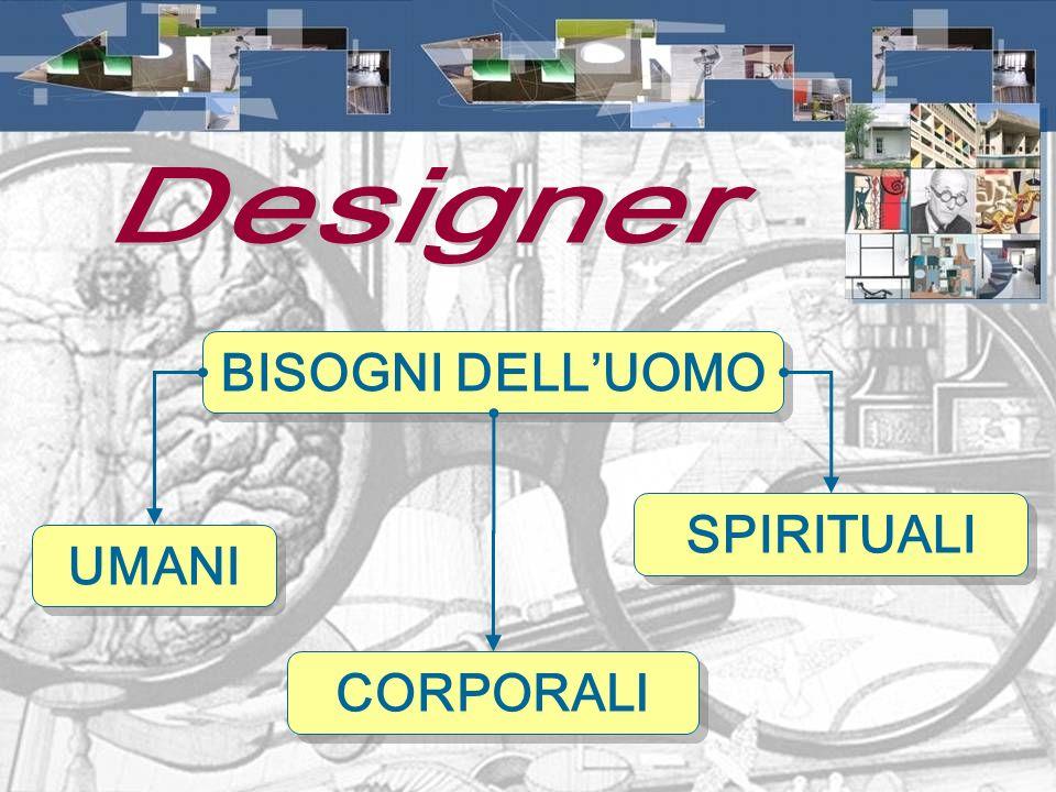 Designer BISOGNI DELL'UOMO UMANI CORPORALI SPIRITUALI