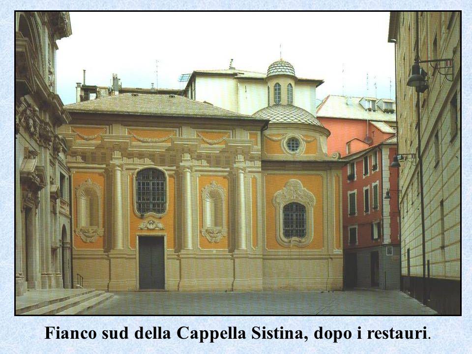 Fianco sud della Cappella Sistina, dopo i restauri.