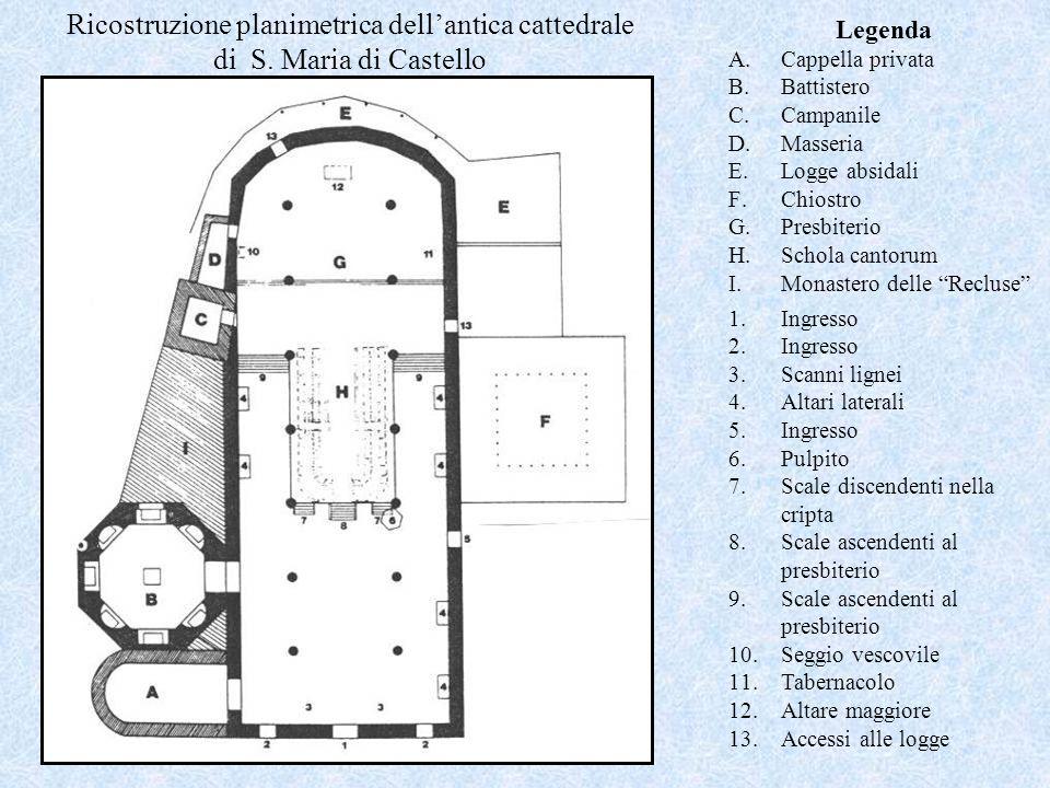Ricostruzione planimetrica dell'antica cattedrale di S
