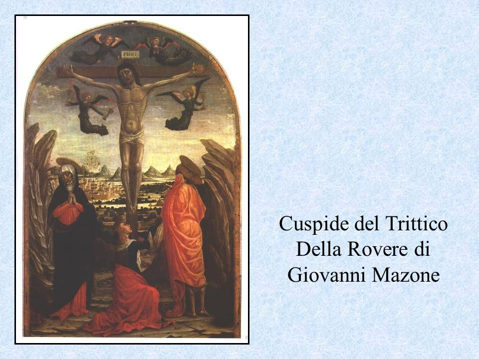 Cuspide del Trittico Della Rovere di Giovanni Mazone