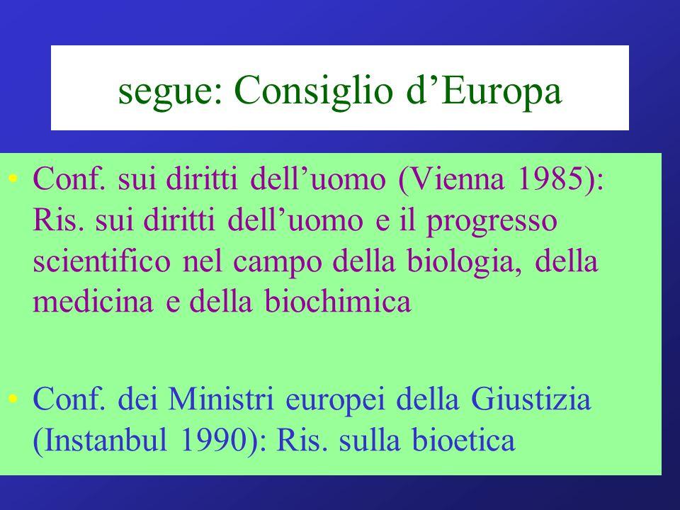 segue: Consiglio d'Europa