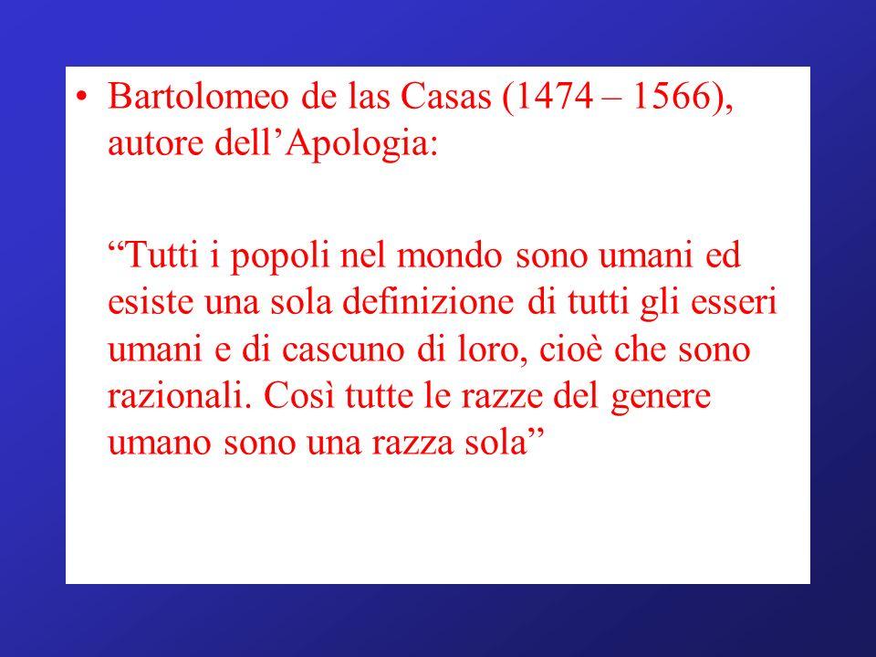 Bartolomeo de las Casas (1474 – 1566), autore dell'Apologia: