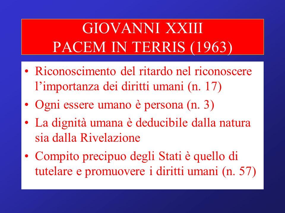 GIOVANNI XXIII PACEM IN TERRIS (1963)