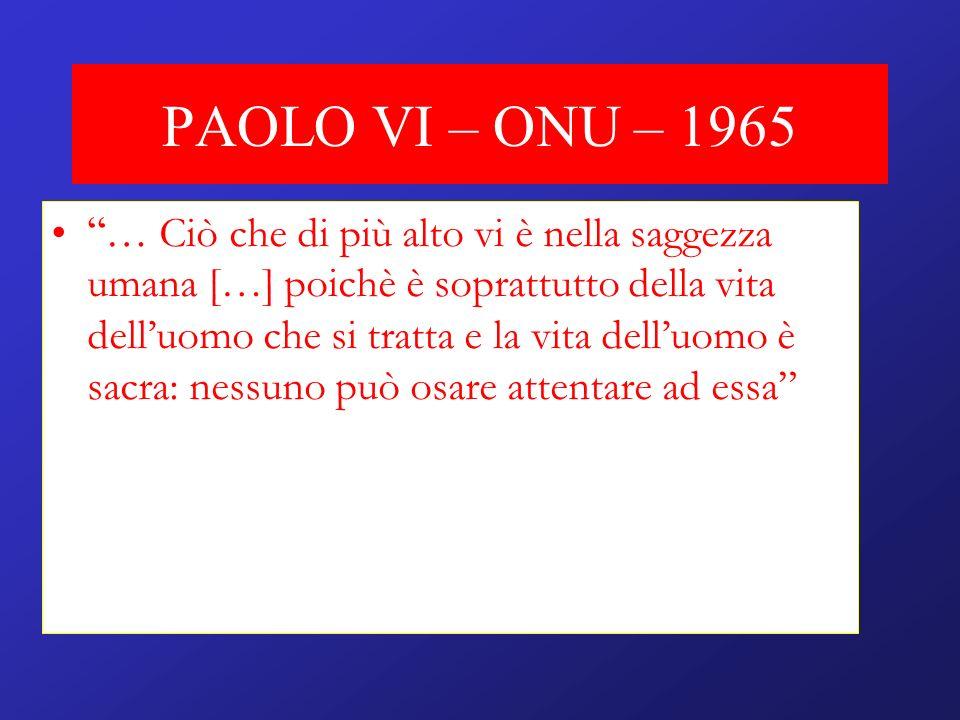 PAOLO VI – ONU – 1965