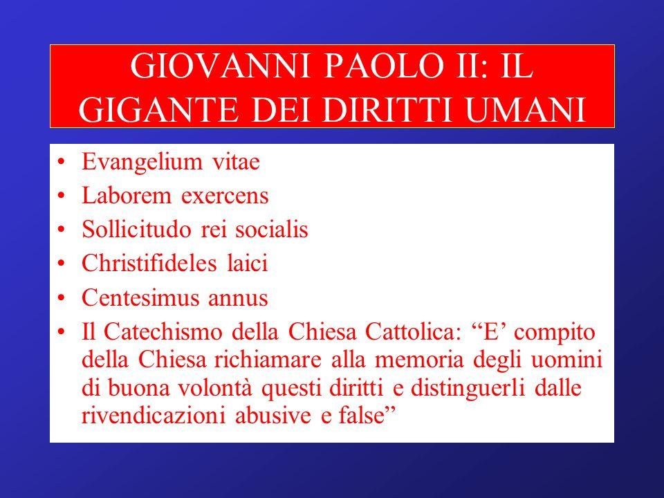 GIOVANNI PAOLO II: IL GIGANTE DEI DIRITTI UMANI