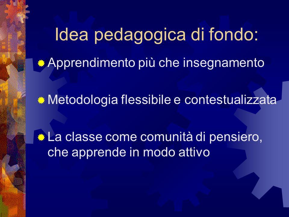Idea pedagogica di fondo: