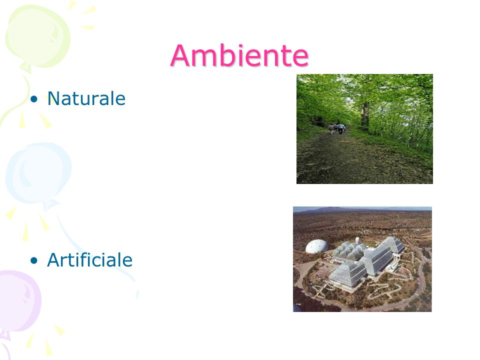 Ambiente Naturale Artificiale